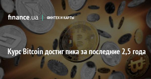 Курс Bitcoin достиг пика за последние 2,5 года