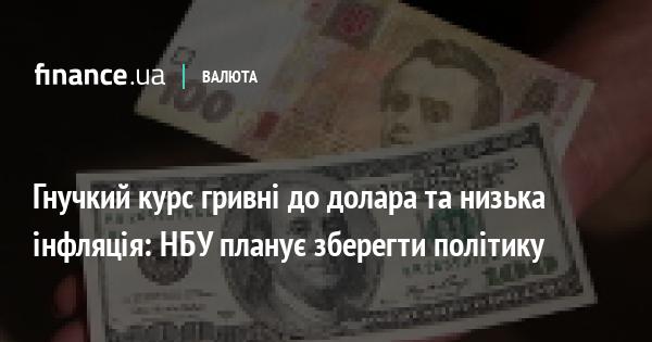 Гнучкий курс гривні до долара та низька інфляція: НБУ планує зберегти політику